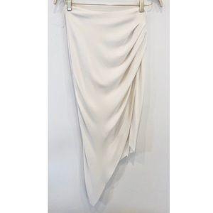 HELMUT LANG Ivory Asymmetrical Skirt